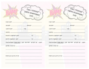 Superheroes Student Quick Reference Form - Transportation