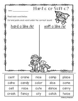 Superheroes Word Work: Hard C/Soft C - Hard G/Soft G Sort