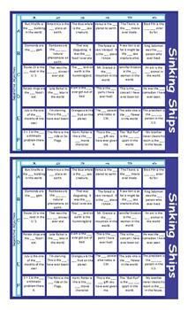 Superlative Adjectives Battleship Board Game