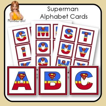 Superman/Supergirl Alphabet Cards