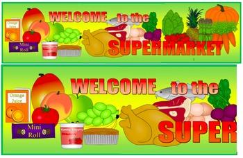 Supermarket Banner, Supermarket Signage, Grocery Store Ban