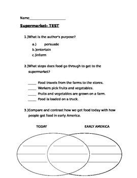 Reading Street Gr. 3 Supermarket story Quiz