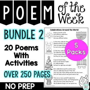 Poem of the Week Bundle 2 Activities for Poetry and Shared