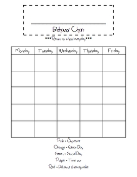 Superstar Blank Behavior Chart Template Freebie