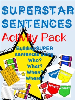 Superstar Sentences - Activites for Writing Great Sentences