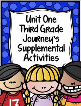 Supplemental Activities for Third Grade Journeys Unit 1 BU
