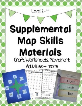 Supplemental Map Skills Materials: Craft, Worksheets, Move