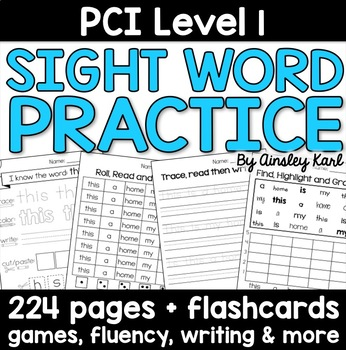 Supplemental Reading Practice Worksheets for PCI Level 1 S