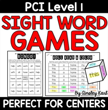 Supplemental Practice  for PCI Level 1 Sight Words Reading