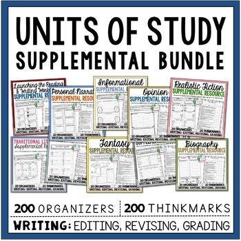Supplemental Printables Bundle:10 Months of Reading & Writ