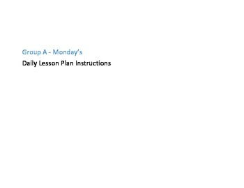 Supplemental or Subsitute Lesson plan