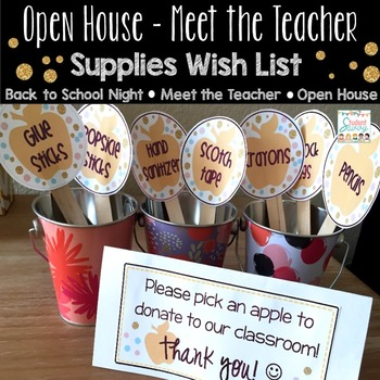 Supplies Wish List for Open House