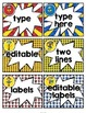 Super Hero Supply Labels