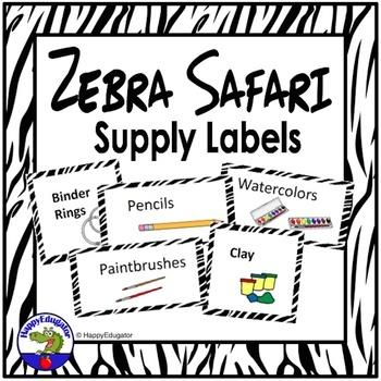 Zebra Print Supply Labels