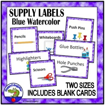Editable Supply Labels - Clouds and Sky Theme