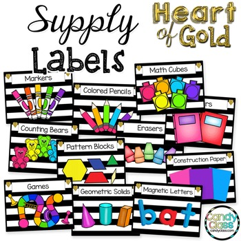 Supply Labels - Heart of Gold Theme