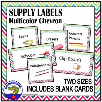 Supply Labels - Chevron - Editable