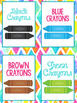 Supply Labels 90+ Bright and Bold Themed | Classroom Decor
