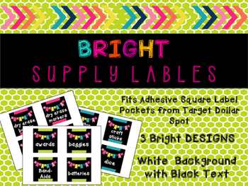 Supply Labels - Black