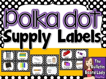Supply Labels - Polka Dots