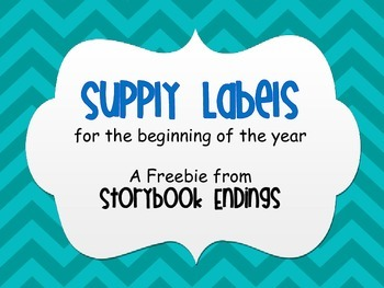 Supply Labels for the Beginning of the Year