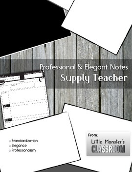 Supply Teacher Notes - Professional & Elegant Template