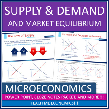 Supply and Demand, Equilibrium, Price Ceilings and Floors