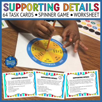 Supporting Details Task Cards and Game