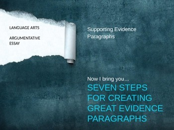 Supporting Evidence Paragraphs
