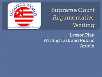 Supreme Court Case Argumentative Writing - Morse v. Freder