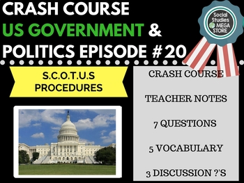 Supreme Court of the United States Procedures: Crash Cours