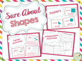Sure About Shapes - Posters, Centers, and Independent Acti
