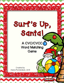 Surf's Up, Santa!  A CVC/CVCC Matching Game