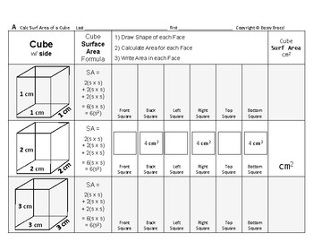 Surface Area 11: Surface Area of Cubes + How Changing Side