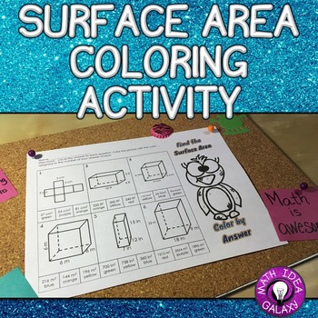 Surface Area Activity Color by Answer