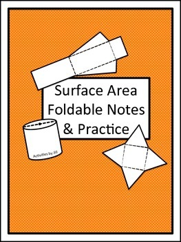 Surface Area Foldable Notes and Practice
