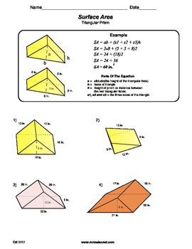 Worksheets Triangular Prism Surface Area Worksheet triangular prism surface area worksheet delibertad of worksheet