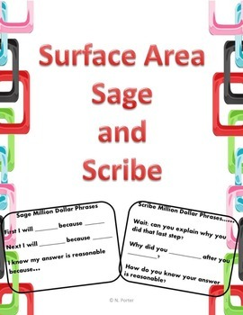 Surface Area Pair Practice