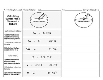 Surface Area & Volume 03: Surface Area & Volume of 9 Geome
