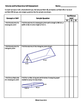 Surface Area & Volume of Prisms Assessment