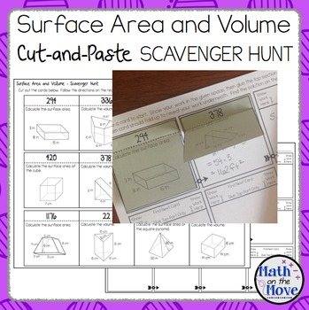 Surface Area and Volume - Cut-and-Paste Scavenger Hunt