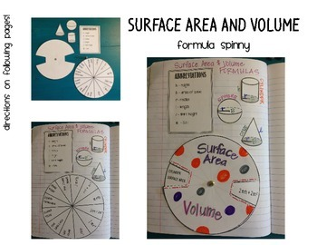 Surface Area and Volume Formula Spinny