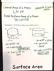 Surface Area and Volume of Prisms and Cylinders Flipbook