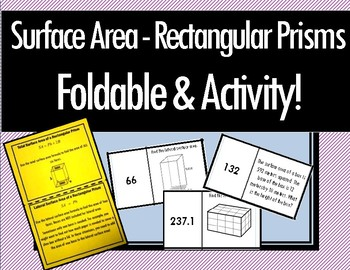 Surface Area of Rectangular Prisms - Foldable & Dominoes!