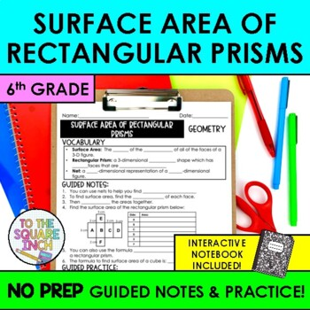 Surface Area of Rectangular Prisms Notes