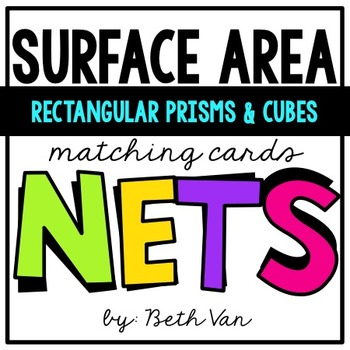 Surface Area of Rectangular Prisms & Cubes Using Nets Matc