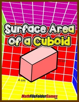 Surface Area of a Cuboid {Geometry Activity}