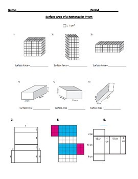 Surface Area of a Rectangular Prism