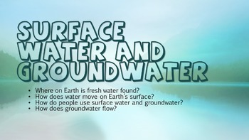 Surface Water and Ground Water (Powerpoint, Intro Activity