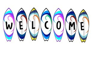 Surfboard Welcome Sign